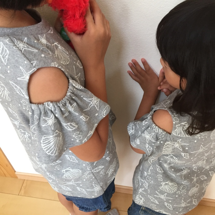 milimili 4種の袖ワンピース&Tシャツセット オープンショルダー Tシャツ丈