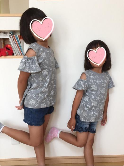 milimili 4種の袖ワンピース&Tシャツセット オープンショルダー Tシャツ丈 110 130