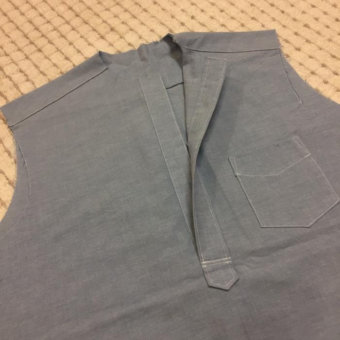洋裁教室1 メンズプルオーバーシャツ1