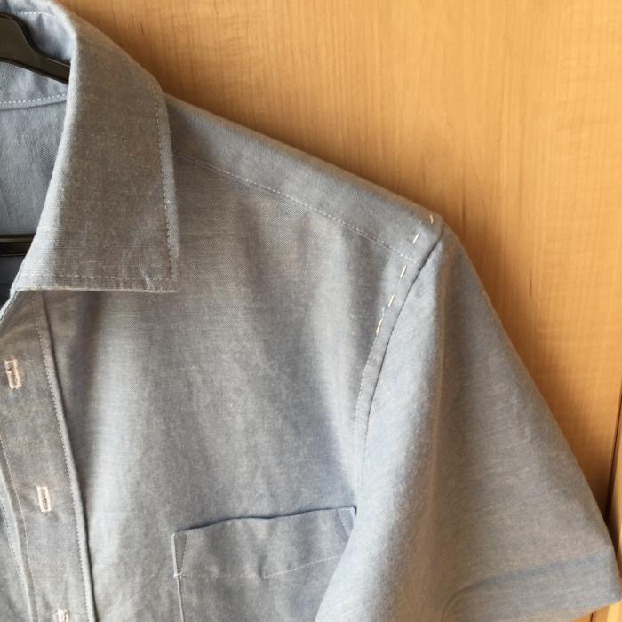 ichica メンズプルオーバーシャツ 袖付け
