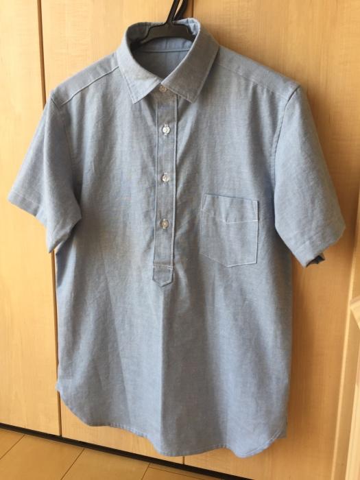 ichica メンズプルオーバーシャツ 半袖