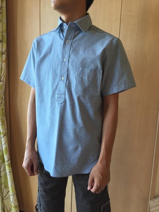 ichica メンズプルオーバーシャツ 着画1