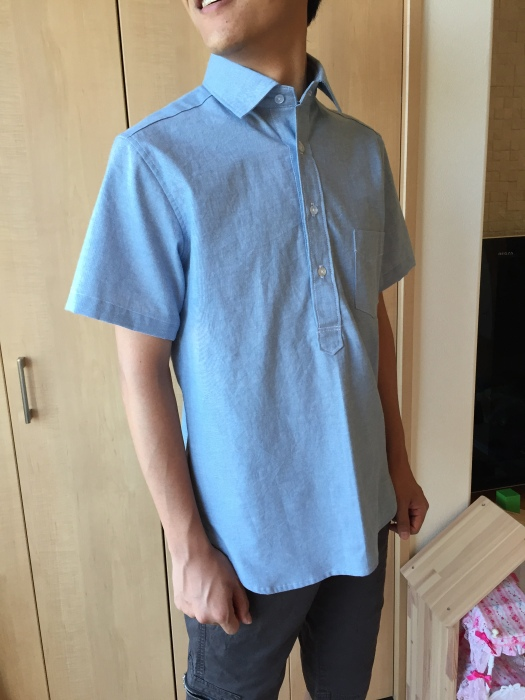 ichica メンズプルオーバーシャツ 着画2