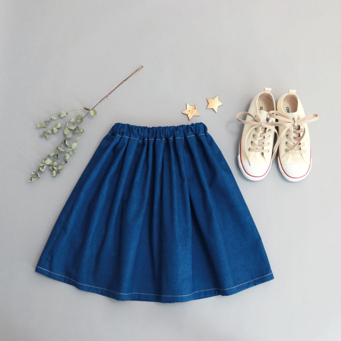 ギャザースカート1