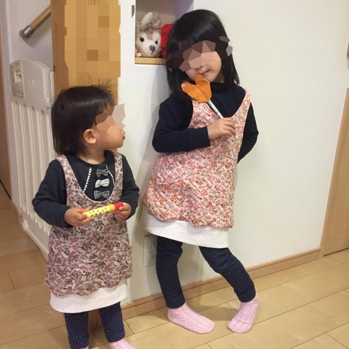 姉妹おそろい☆サロペットチュニック