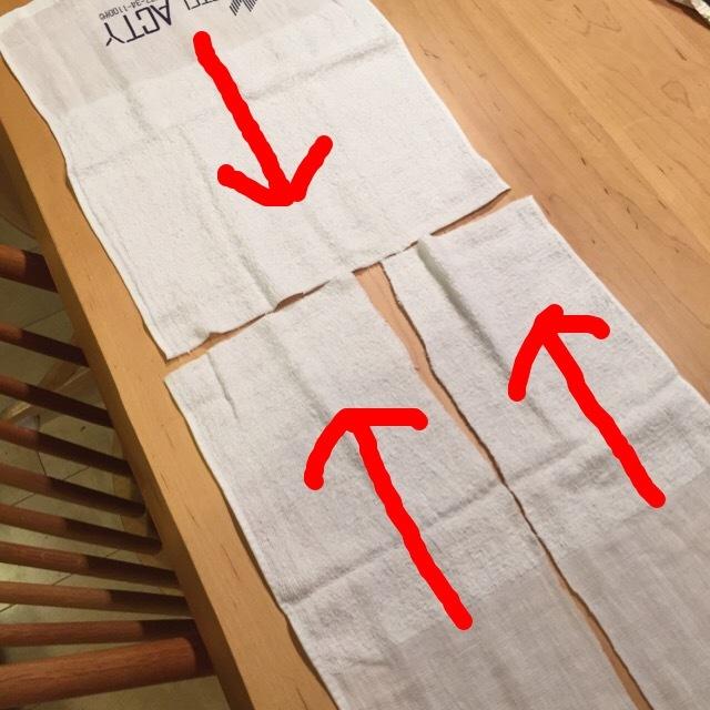 ぞうきんの縫い方