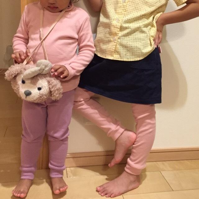 まいにち着る女の子服 ロングレギンス 90 120