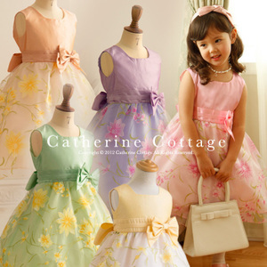 キャサリンコテージ 花柄オーガンジードレス