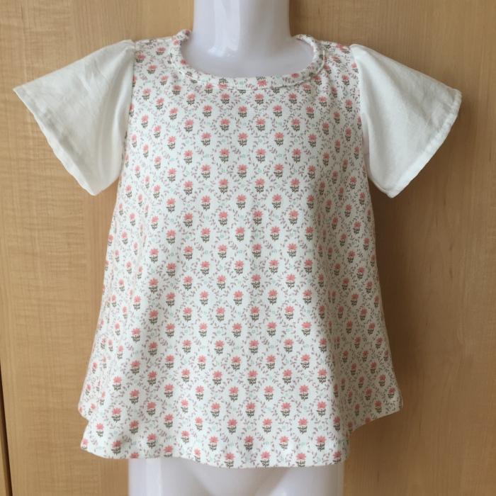 オリジナル型紙 フリルTシャツ 1 100サイズ
