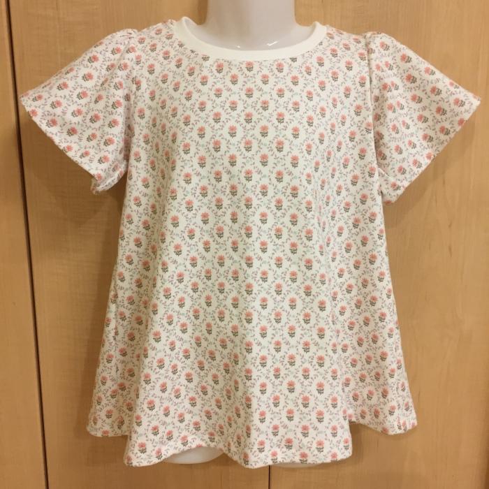 オリジナル型紙 フリルTシャツ 4 120サイズ フリル袖