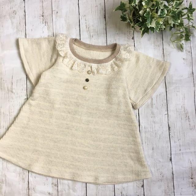 フリルTシャツ 120サイズモニター フリル袖